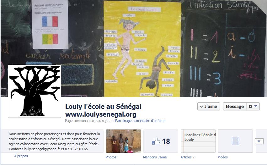 Louly fait ses premiers pas sur Facebook !