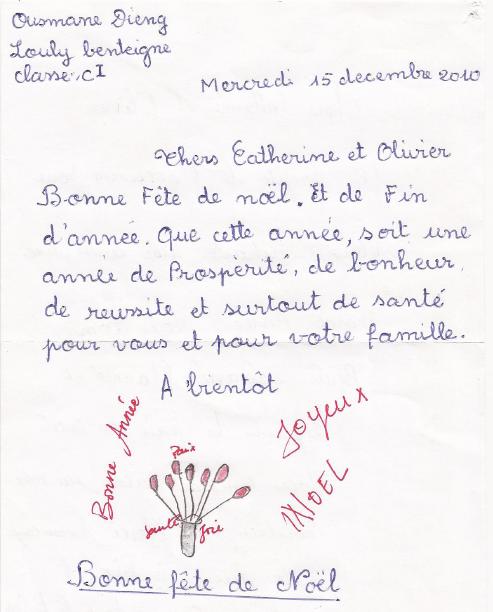 En 2010, Ousmane faisait un dessin